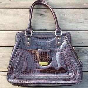 Liz Claiborne Brown Patent Leather Purse